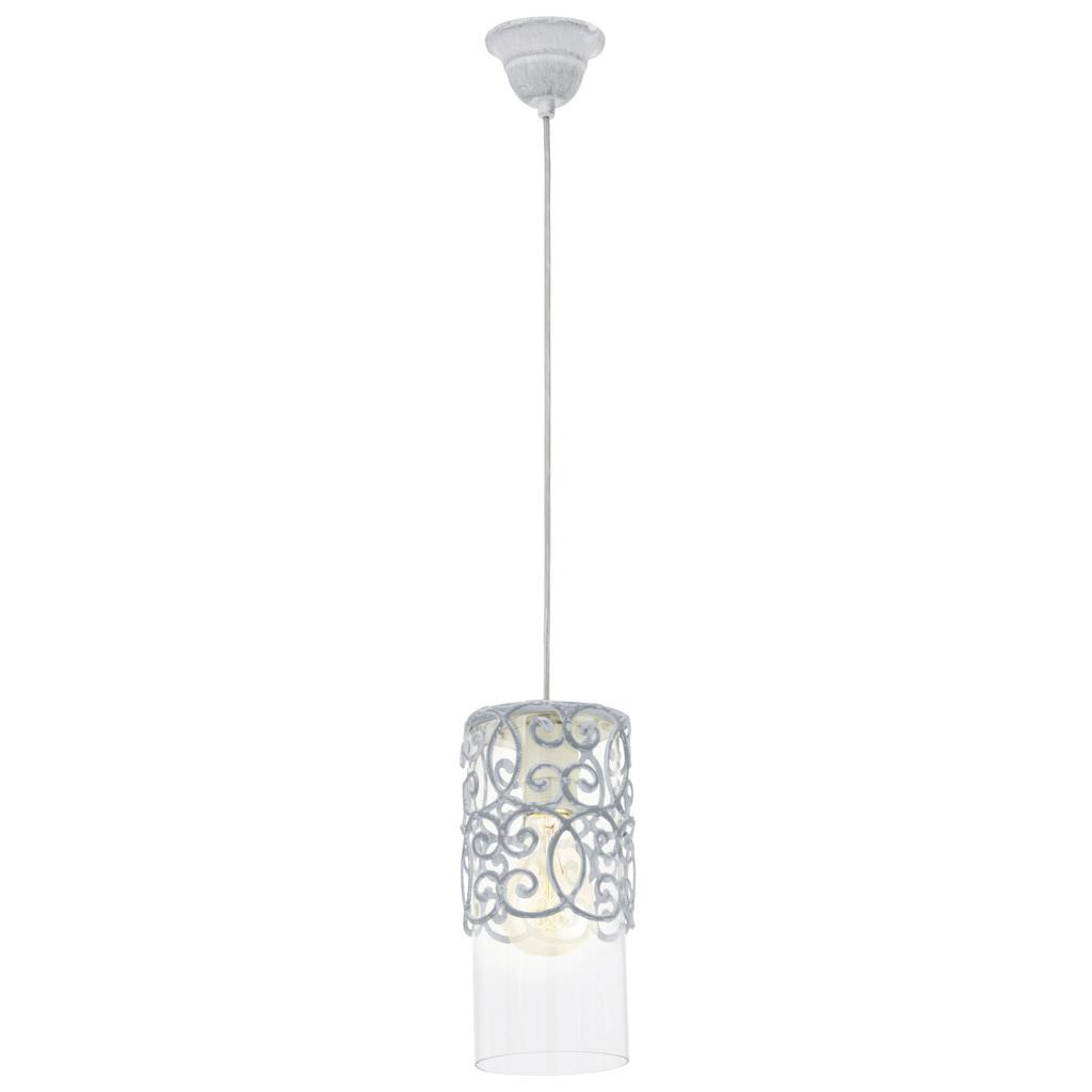 EGLO Pendelleuchte Cardigan, Transparent,weiß, Glas/Metall, 49202