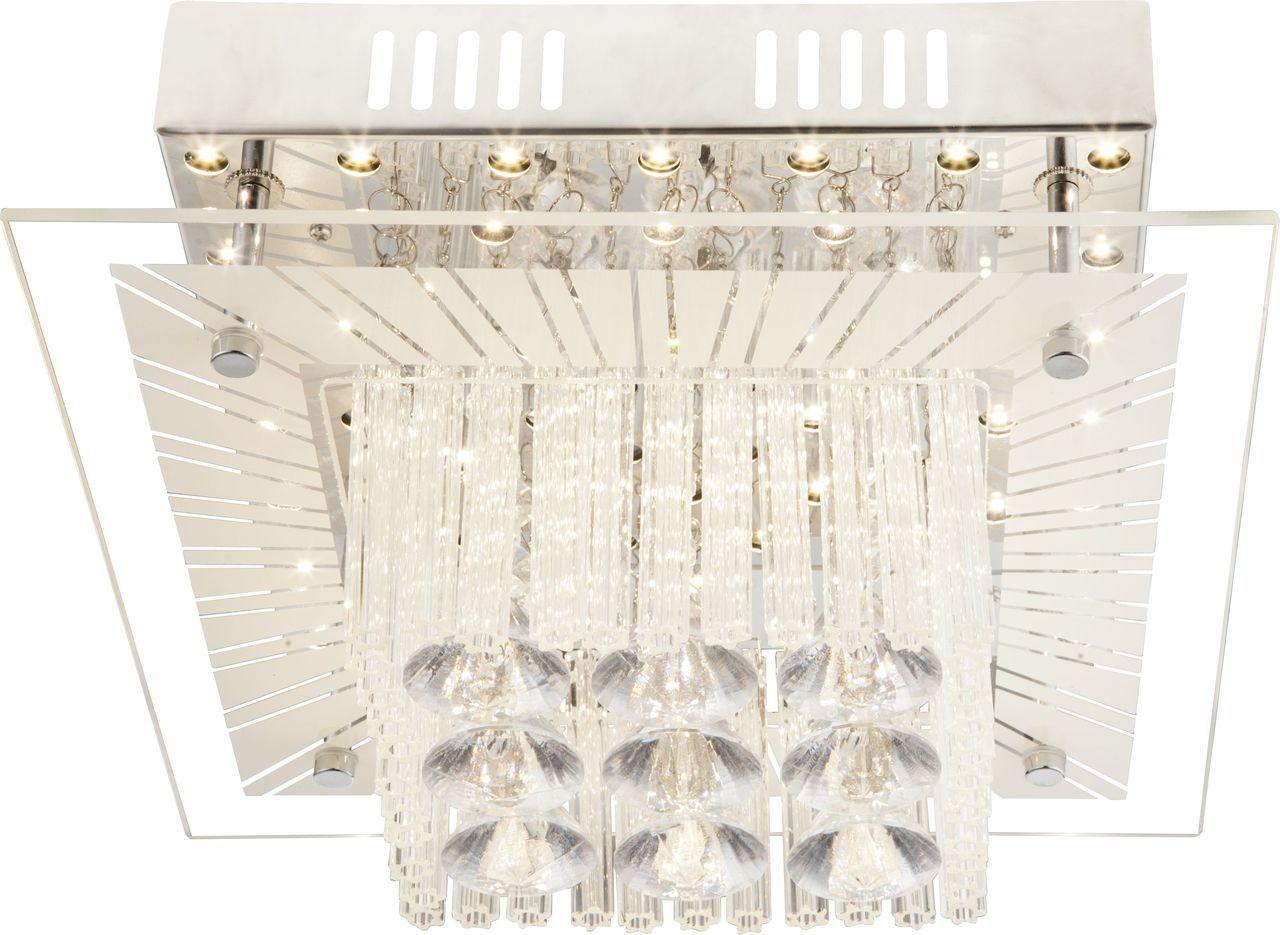 Globo LED Deckenleuchte Deckenleuchte Chrom, Chrom,transparent, 49366-12