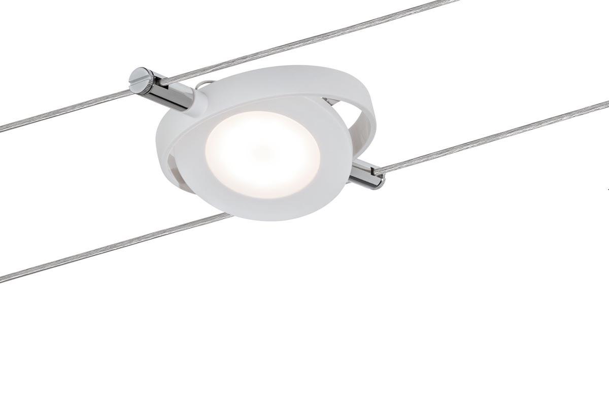 Paulmann LED Seilsystem Smart Wire System BLE Spot RoundMac 1x4W Weiß Matt 12V DC 36VA Tunable White, Weiß, 501.11 | Lampen > Strahler und Systeme > Seilsysteme | Weiß - Matt - White