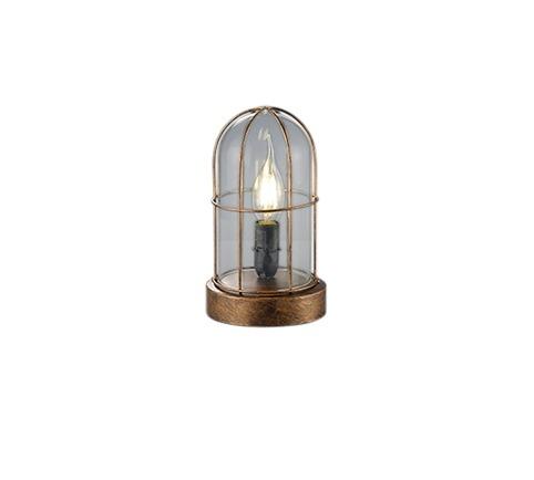 Trio Leseleuchte BIRTE, Braun/metallisch/transparent, Glas/Kupfer/Metall, 503800162