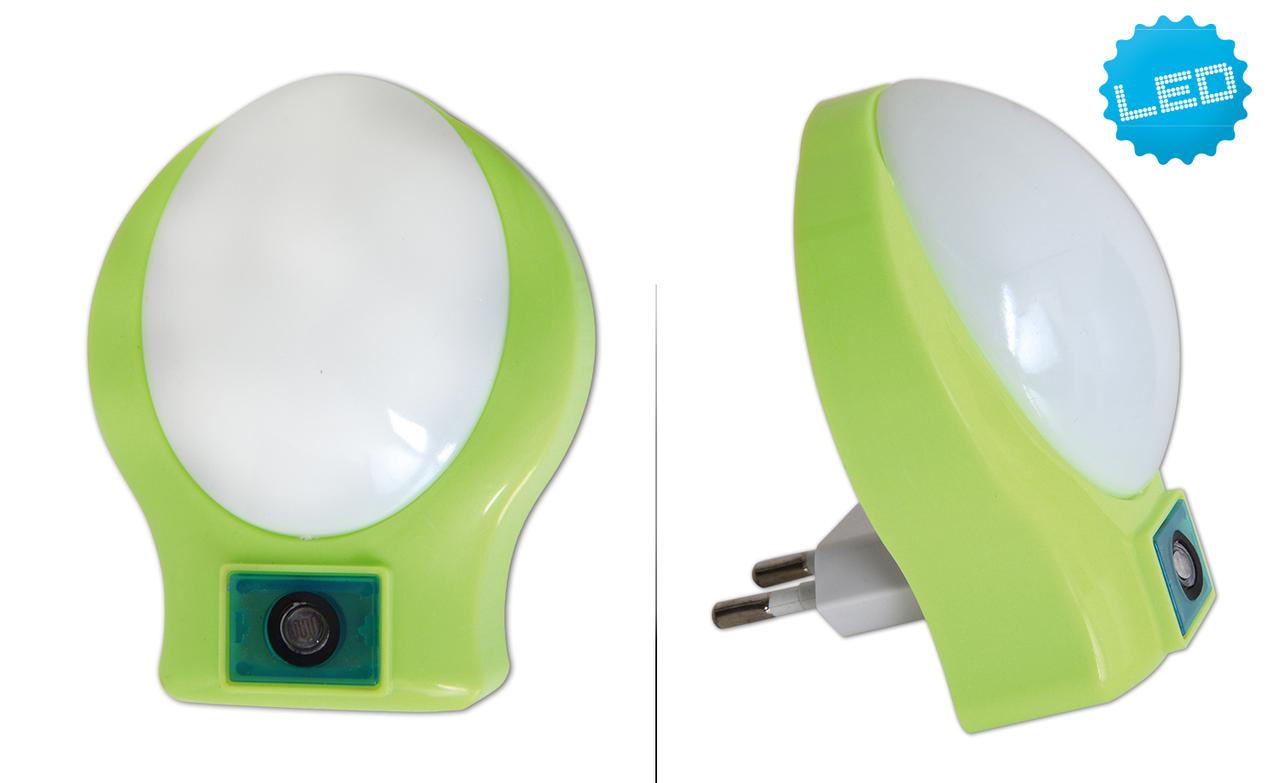 Näve LED Steckdosenleuchte Deko-LED Nachtlicht, Grün, 5166117
