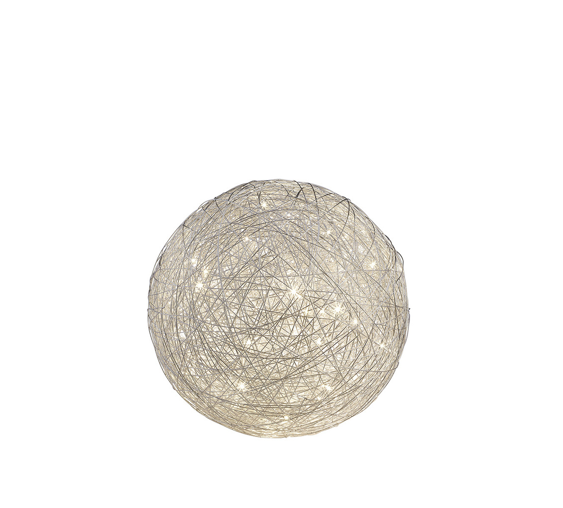 Trio LED Tisch Kugelleuchte THUNDER, Chrom,grau, Aluminium/Metall, 525113005