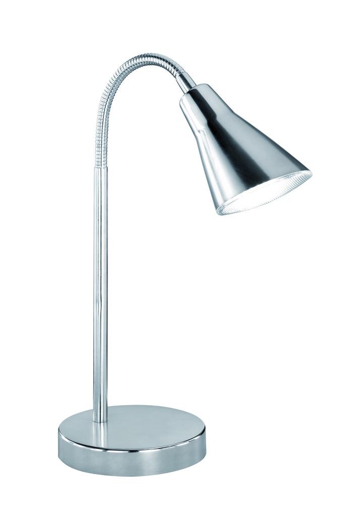 Trio LED Leseleuchte Metall, Metallisch, Kunststoff, 528310107
