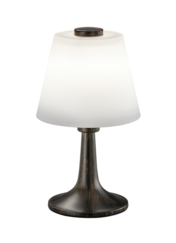 Trio LED Leseleuchte Serie 5293, Braun,weiß, Glas/Metall, 529310128
