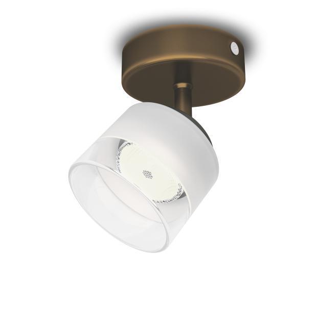 Philips LED Deckenstrahler Fremont, Braun/metallisch, Glas/Metall, 533300616 | Lampen > Strahler und Systeme > Strahler und Spots