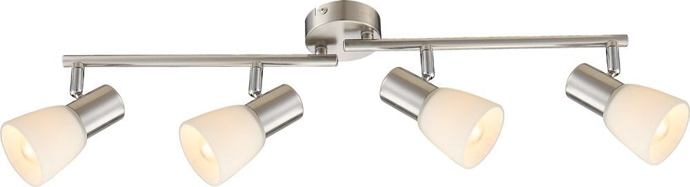 Globo LED Deckenbogen PUMBA Strahler, Metallisch, Metall/Nickel/Stahl, 54539-4