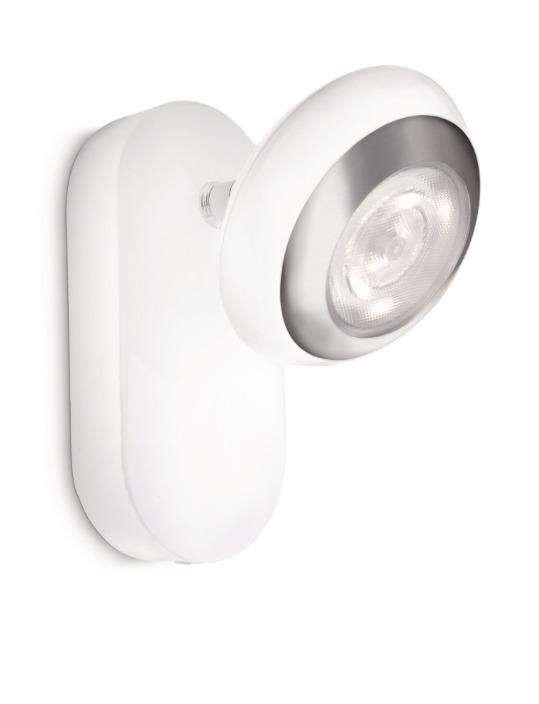 Philips LED Wandstrahler Sepia, Weiß, Aluminium, 571703116