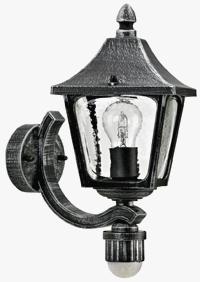 Albert Laterne Roswithana, Schwarz, Aluminium, Bewegungsmelder, 601822