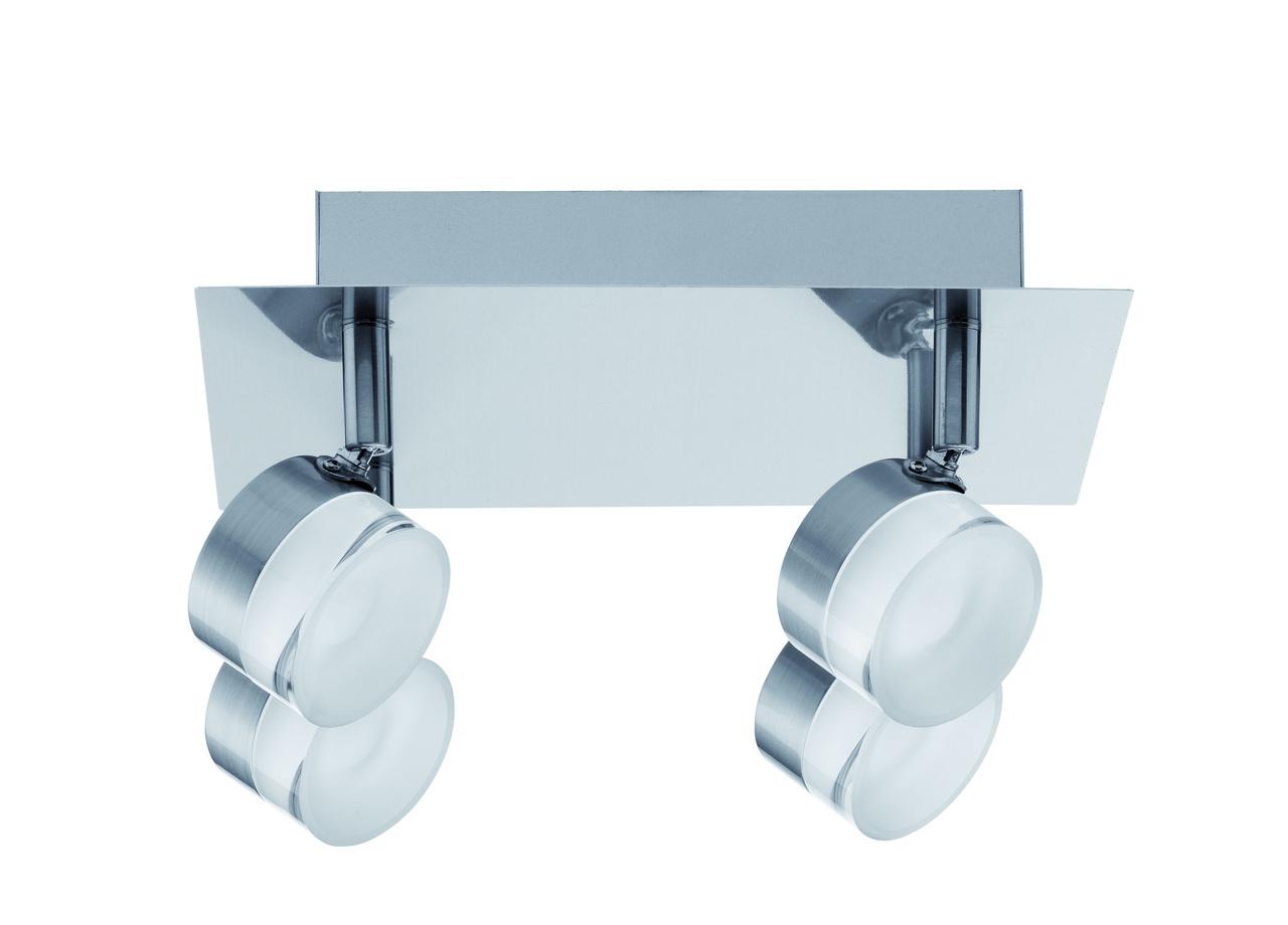Paulmann LED Deckenleuchte Slice, Metallisch, Metall, 603.81