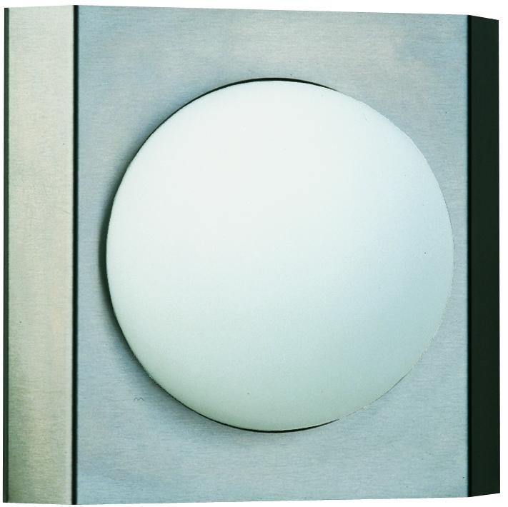 Albert Außenwandleuchte Cirko, Metallisch, Edelstahl/Glas/Opalglas, 696112