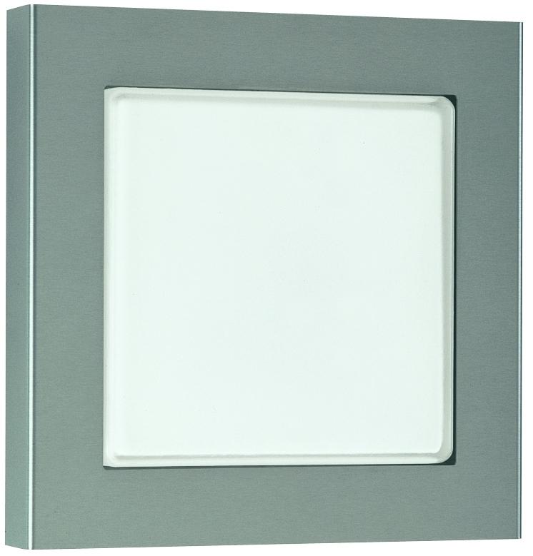 Albert Außenwandleuchte Quatto, Metallisch, Aluminium/Edelstahl/Glas/Opalglas, 696115