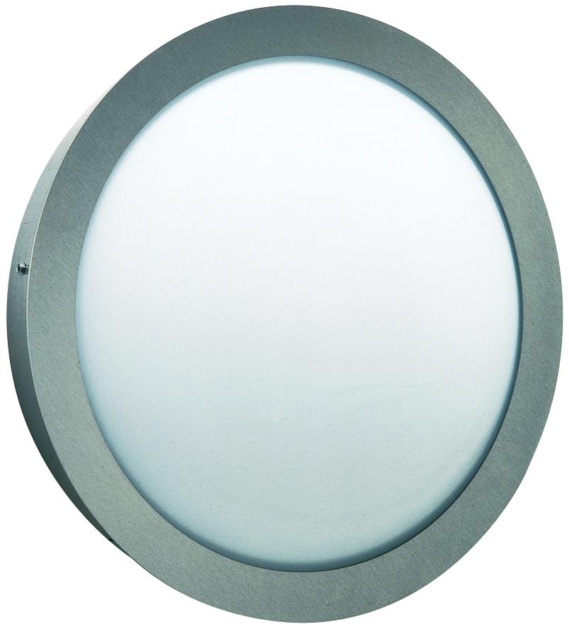 Albert Außenwandleuchte Zilko 2, Metallisch/weiß, Edelstahl/Glas/Opalglas, 696174