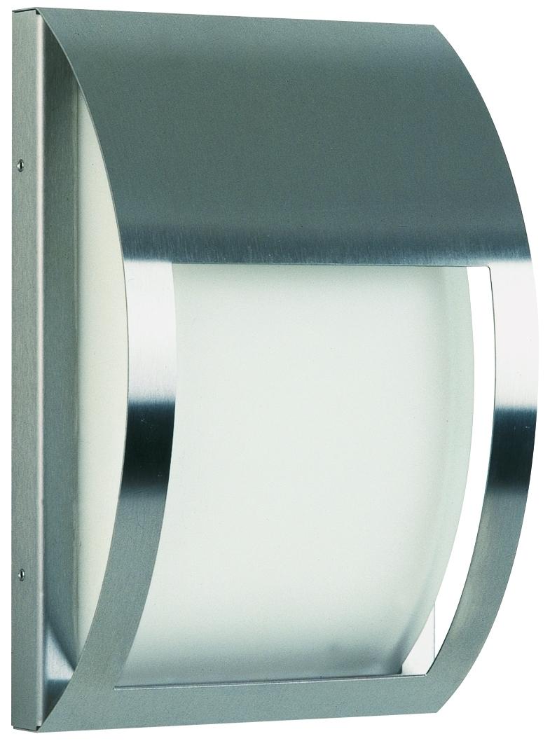 Albert Außenwandleuchte Balkoline, Metallisch/weiß, Aluminium/Edelstahl/Glas/Opalglas, 696178