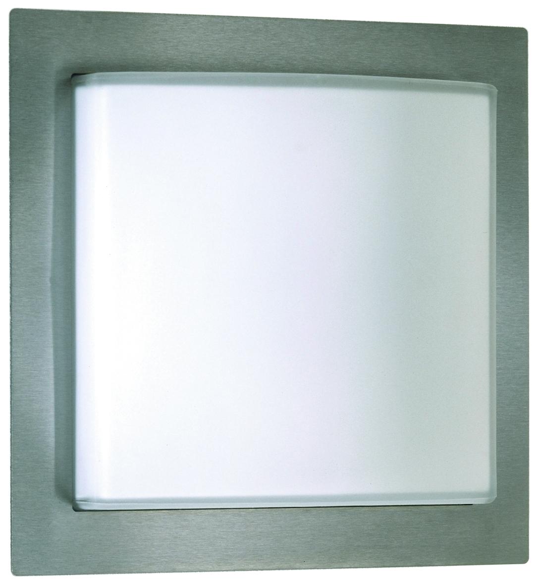 Albert Außenwandleuchte Illuminas, Metallisch/weiß, Aluminium/Edelstahl/Glas/Opalglas, 696205