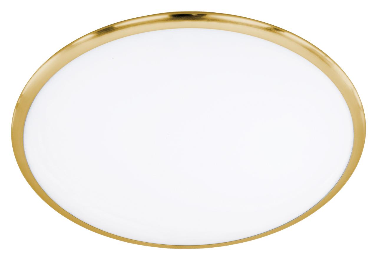 Trio Deckenleuchte Serie 6252, Gold,weiß, Glas/Metall, 625211008
