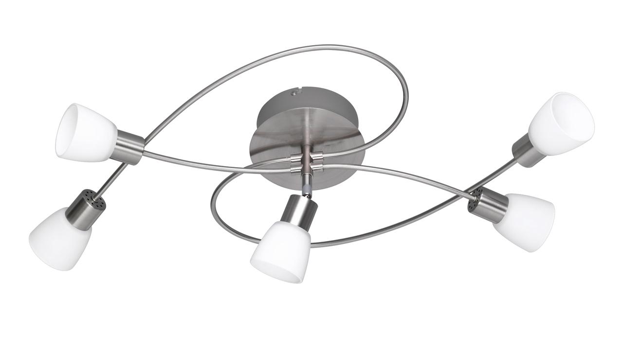 Trio LED Deckenspirale Charles, Metallisch, Glas/Metall, 629410507