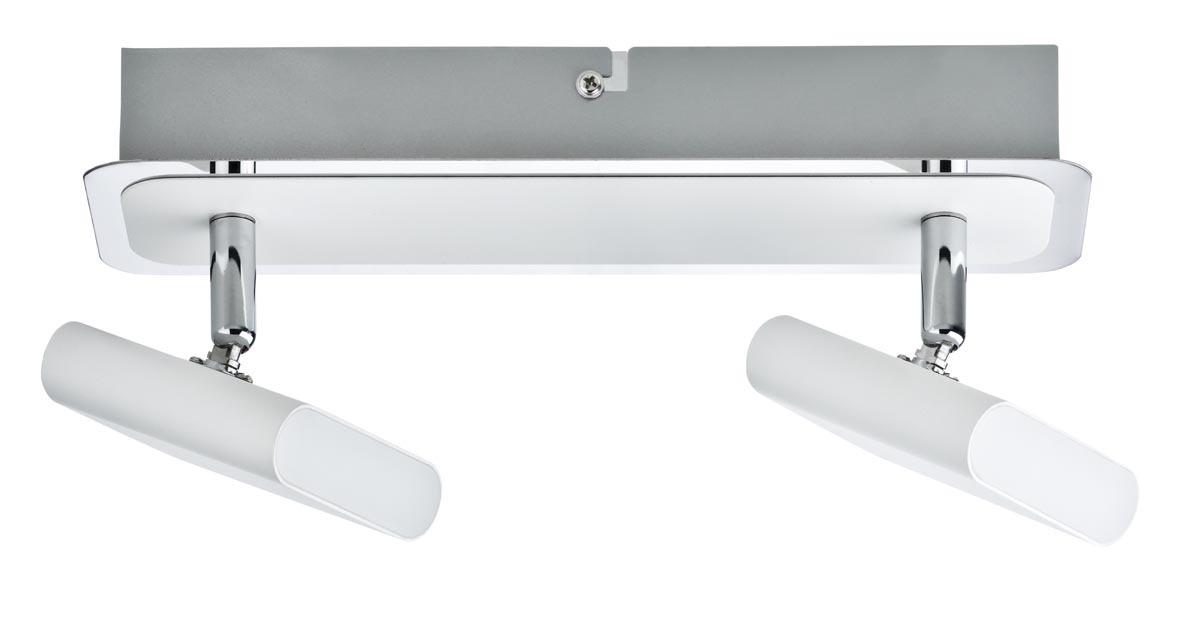 Paulmann LED Strahlerbalken Launcher, Chrom/wei...