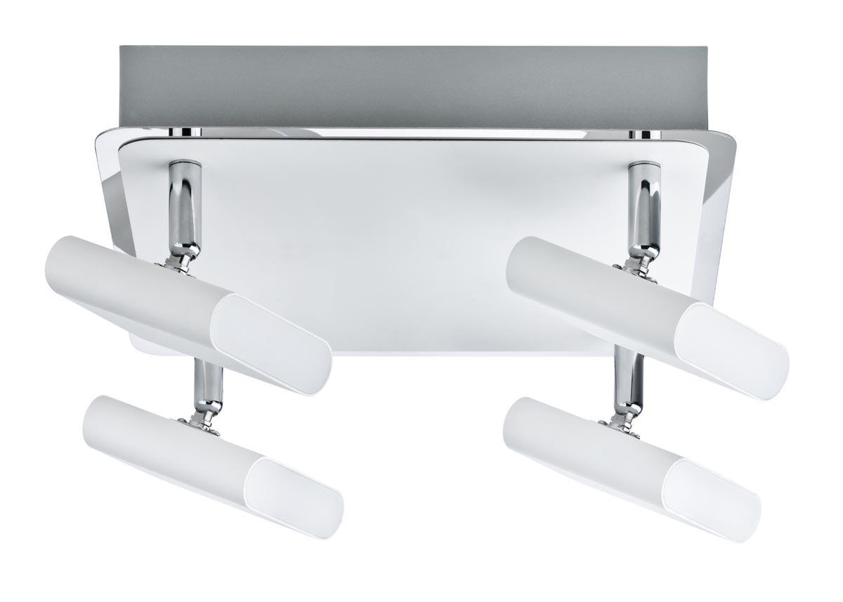 Paulmann LED Deckenstrahler Launcher, Chrom/wei...