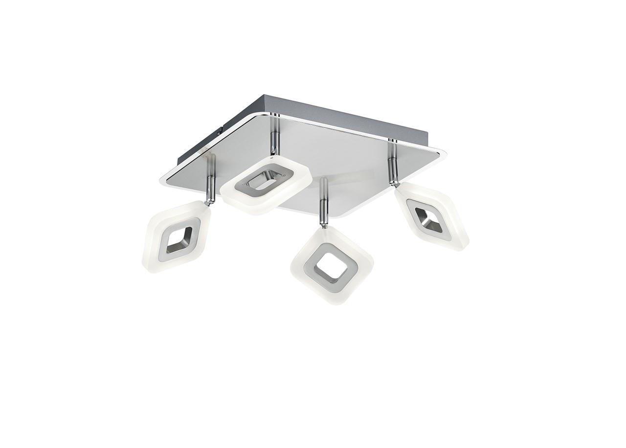 Trio LED Deckenleuchte Paradox, Chrom,weiß, Kunststoff/Metall, 671930406