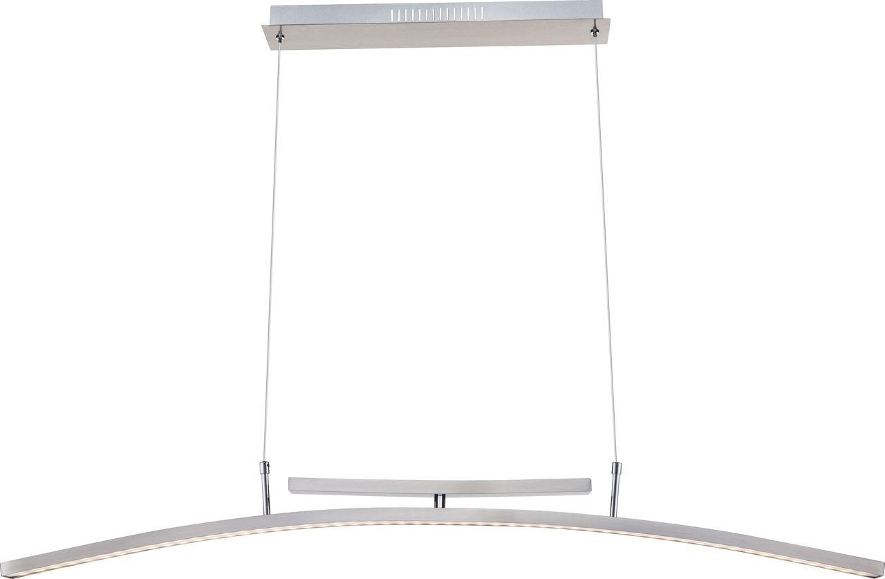 Globo LED Pendelleuchte DECIMUS HL, Metallisch, Metall/Nickel/Stahl, 68146