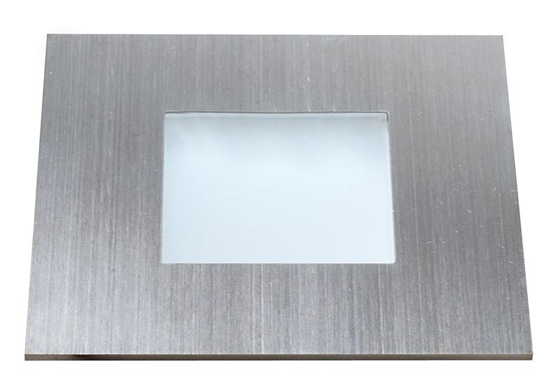 Deko-Light LED Deckenleuchte Quadro Point, Metallisch, Edelstahl/Glas, 686940