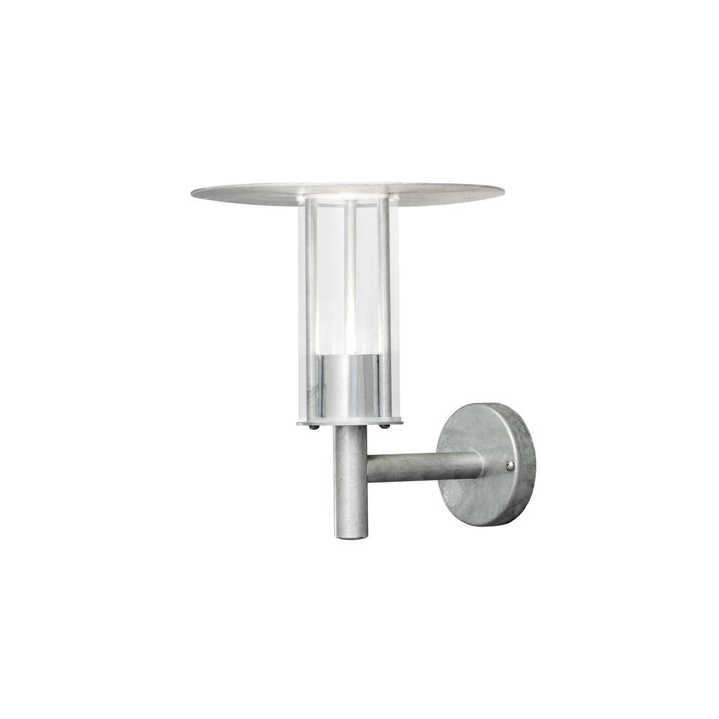 Konstsmide LED Laterne Mode Wandleuchte, Metallisch/silber/transparent, Kunststoff/Metall, 700-320 | Lampen > Aussenlampen > Gartenleuchten