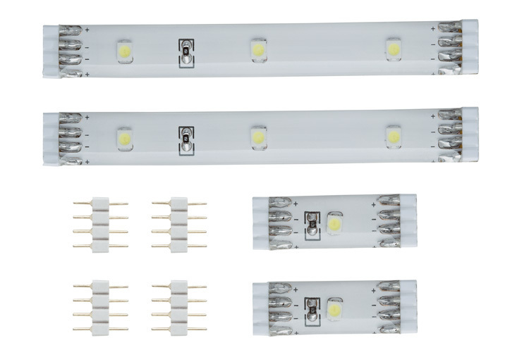 Paulmann LED Strip Distance Pack Daylight, Weiß, Kunststoff, 703.37