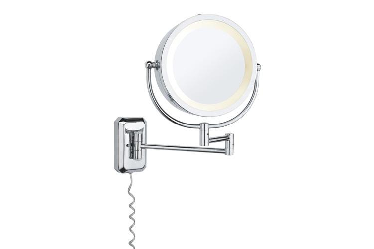 Paulmann LED Leuchtspiegel Bela, Chrom,metallisch, Glas/Metall, 703.49
