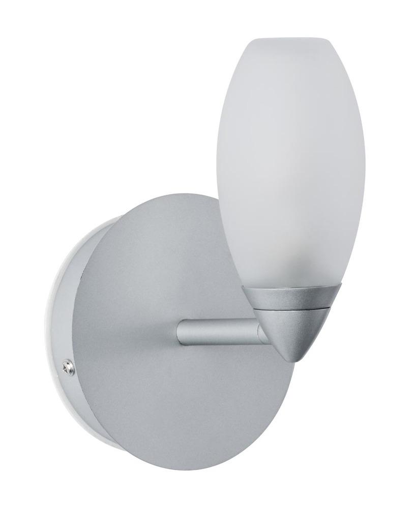 Paulmann Wandleuchte WallCeiling Carina WL IP44 Max 28W G9 Chrom Matt/Satin 230V Metall/Glas, Metallisch, Glas/Metall, 708.38 | Lampen | Chrom - Matt - Metallisch | Metall - Glas