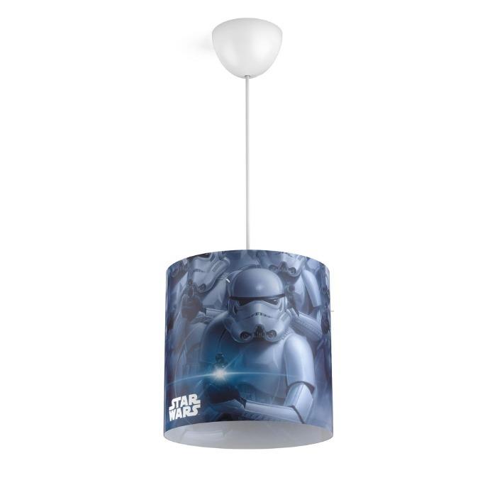 Philips Kinder Pendelleuchte Star Wars, Blau/grau/schwarz/weiß, Kunststoff, 717519916   Lampen > Kinderzimmerlampen   Kunststoff