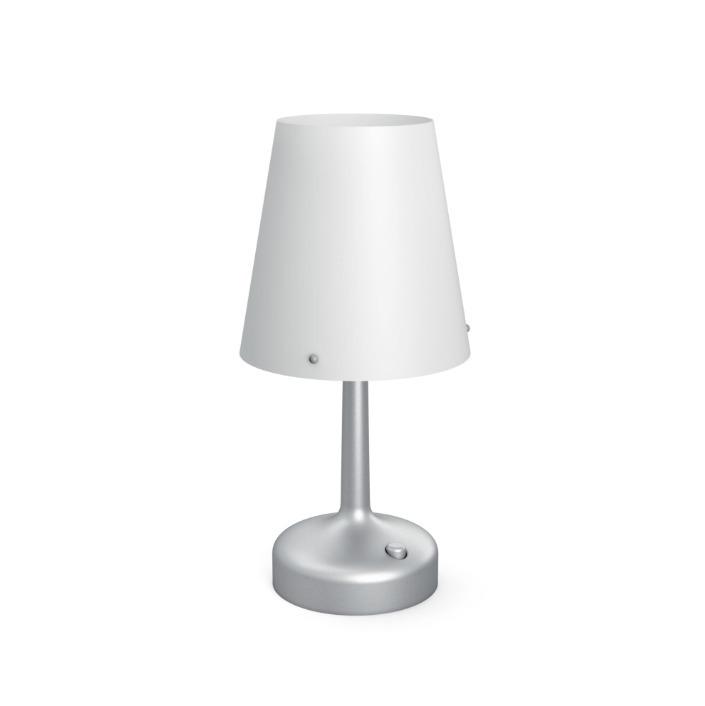 Philips LED Leseleuchte Tischleuchte, Grau, Kunststoff, 7179648P0