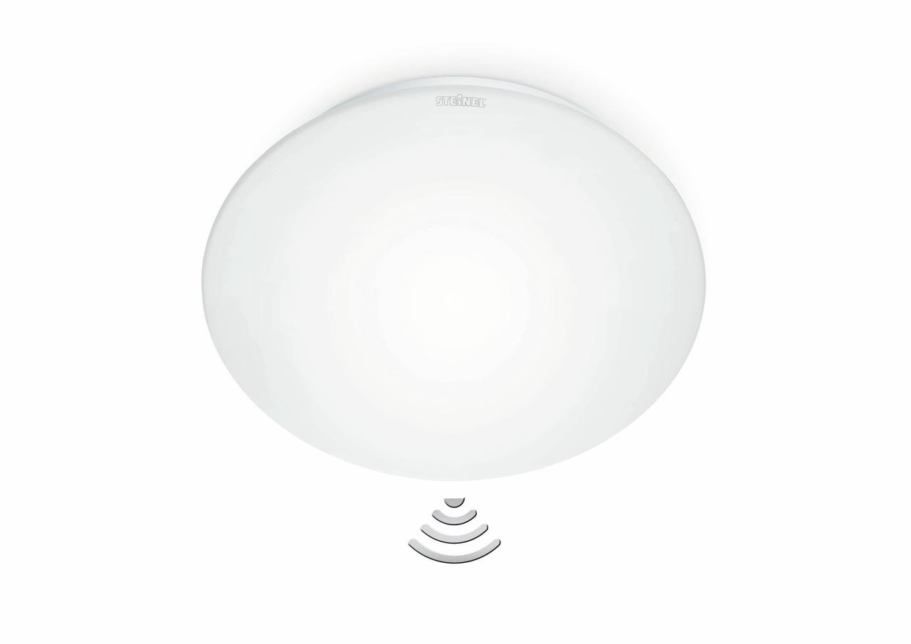 Steinel Deckenleuchte RS 16L Sensor, Weiß, Glas/Kunststoff, Bewegungsmelder, 738013