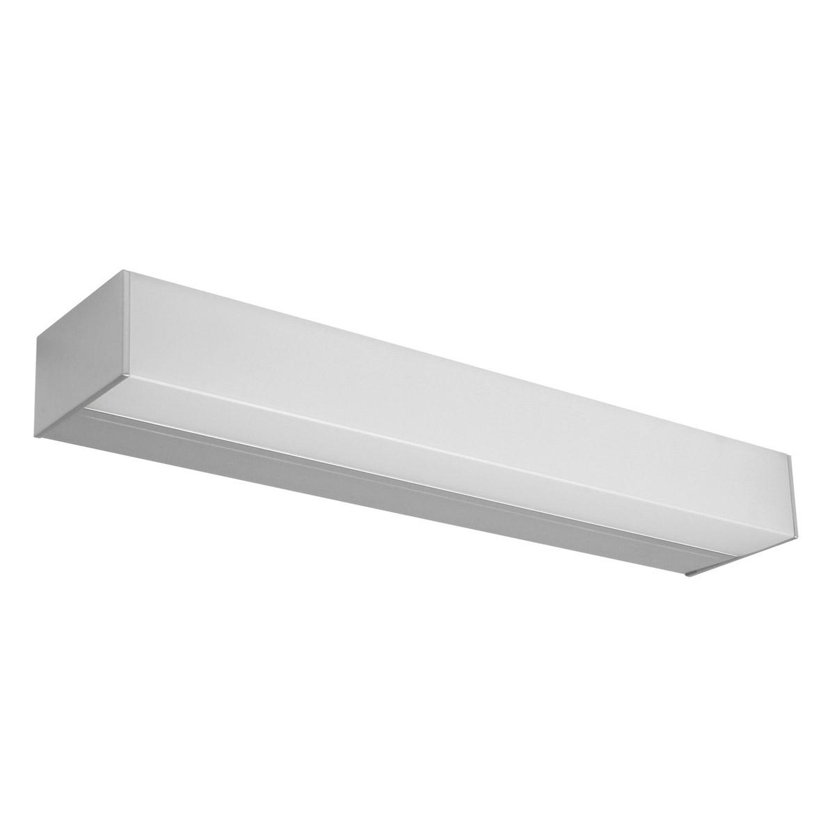 Linea Light LED Spiegelleuchte Kioo Appl L600 LED 28W Anodizz, Metallisch, Aluminium, 7907 | Lampen > Badlampen | Metallisch | Aluminium