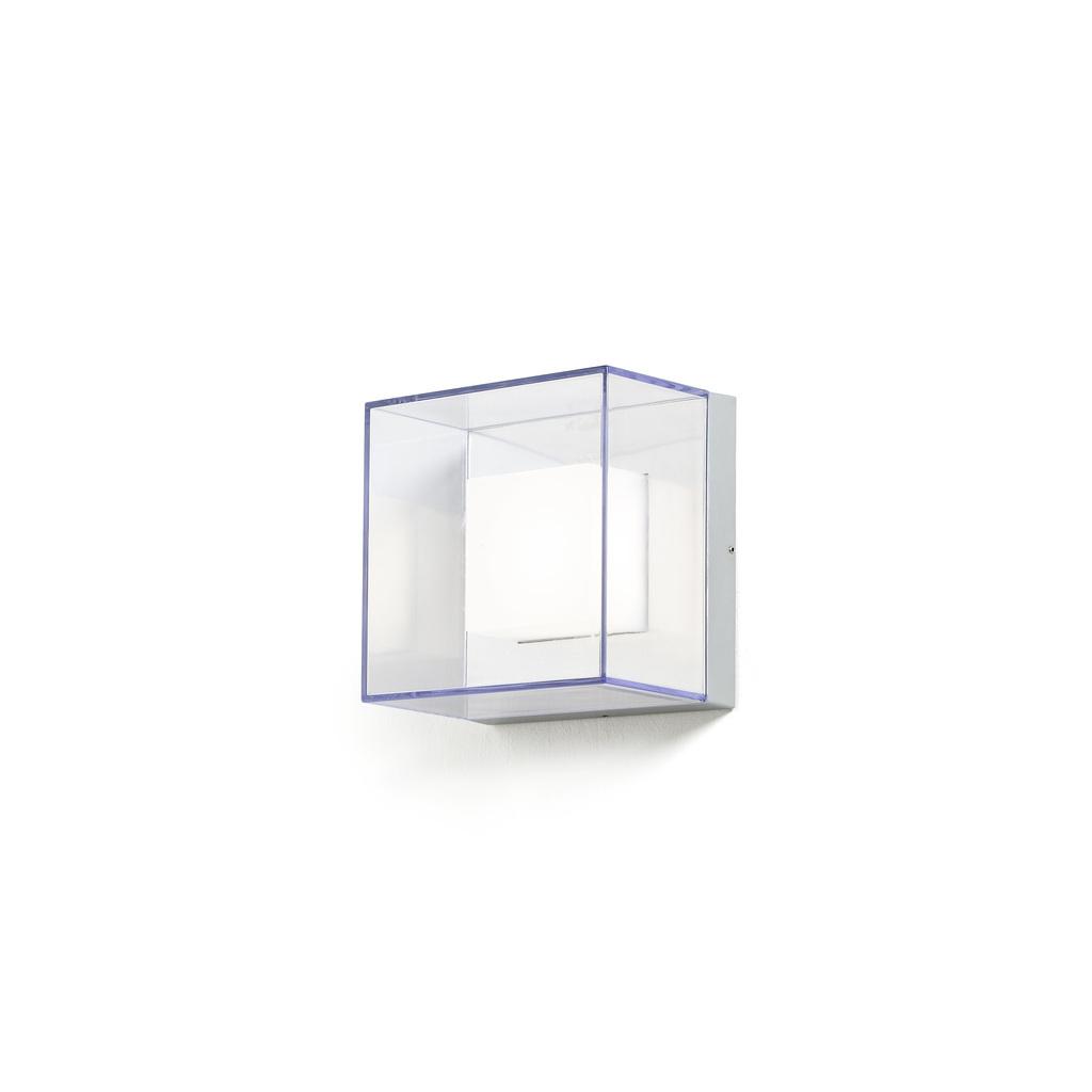 Konstsmide LED Außenwandleuchte Sanremo, Grau,transparent, Alumi bei LeuchtenZentrale.de