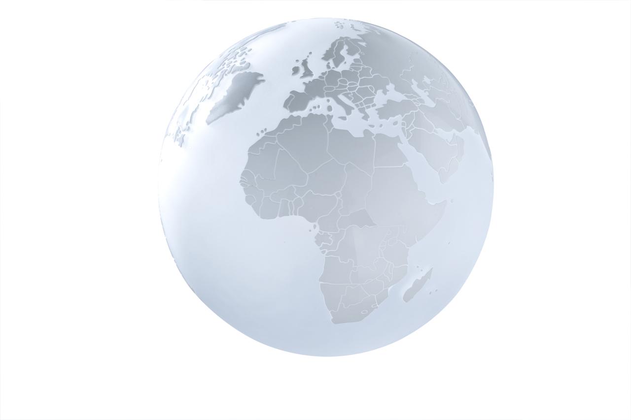 Sompex Schreibtischleuchte Earth, Transparent, Glas, 79799