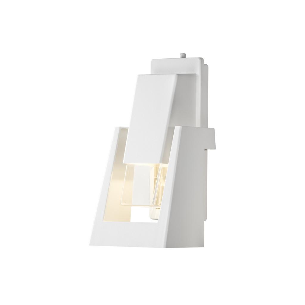 Konstsmide Außenwandleuchte Potenza Wandleuchte, Weiß, Metall, 7982-250 | Lampen