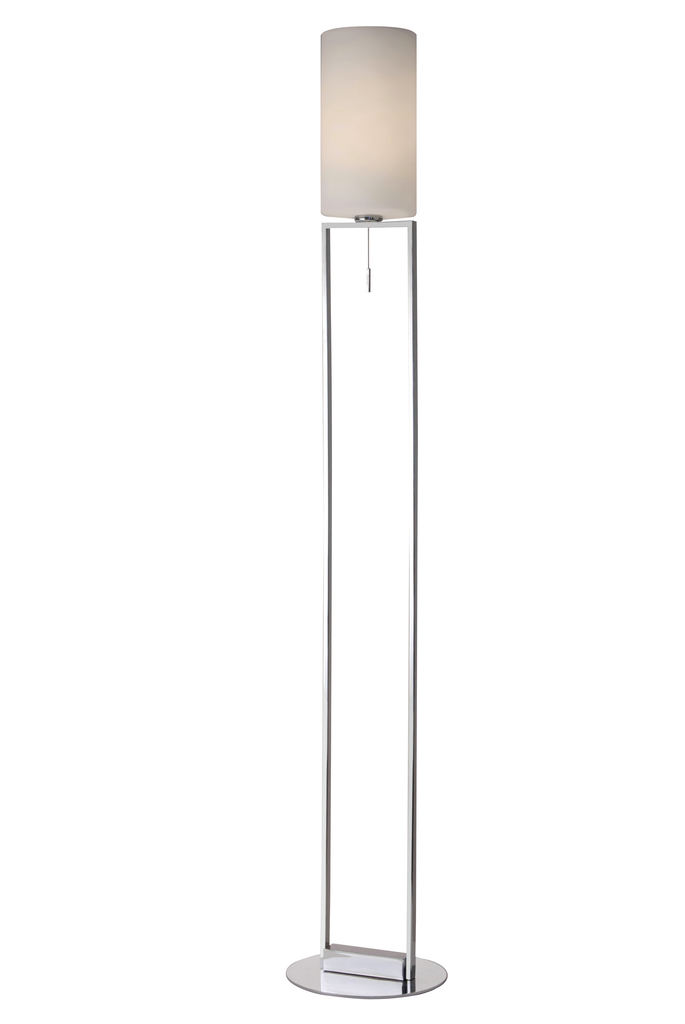 Sompex Leseleuchte Fine, Chrom,weiß, Glas/Metall, 79896