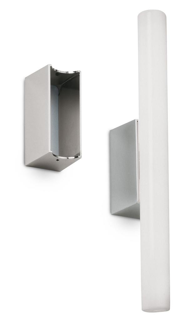 Vibia Spiegelleuchte LINESTRA Matt Nickel, Aluminium, 803130