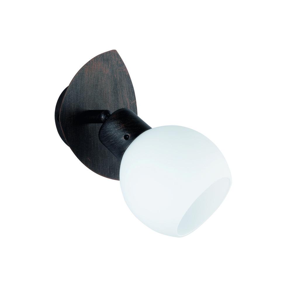 Trio LED Wandstrahler Rostfarbig Antik, Braun,rostfarben,transparent, Metall/Glas, 824810128