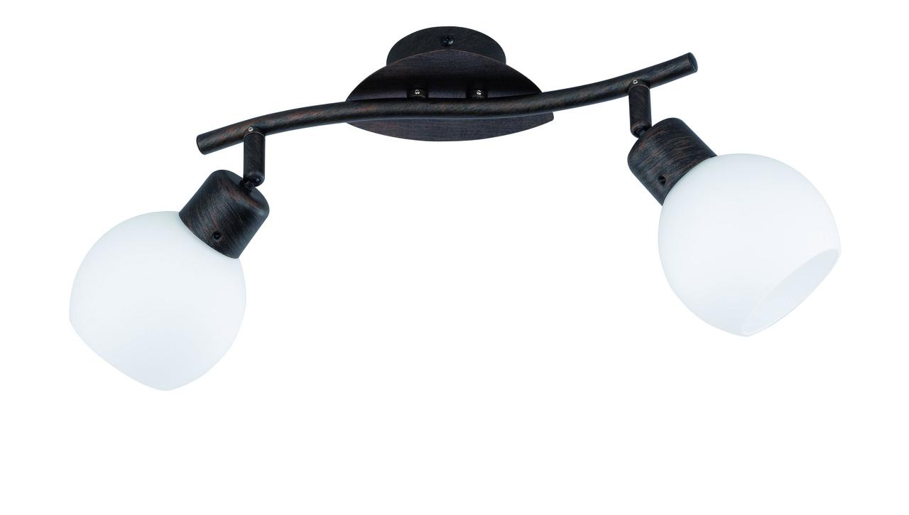 Trio LED Deckenbogen Rostfarbig Antik, Braun,transparent, Glas/Metall, 824810228