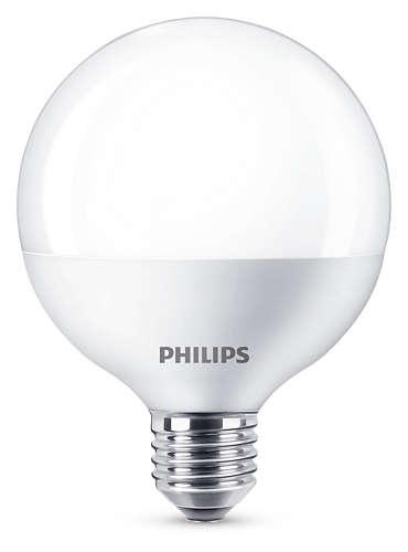 Philips LED Globe E27 (G93) 9.5W (ersetzt 60W), Weiß, Kunststoff, 871869658063900 | Lampen > Leuchtmittel > Led