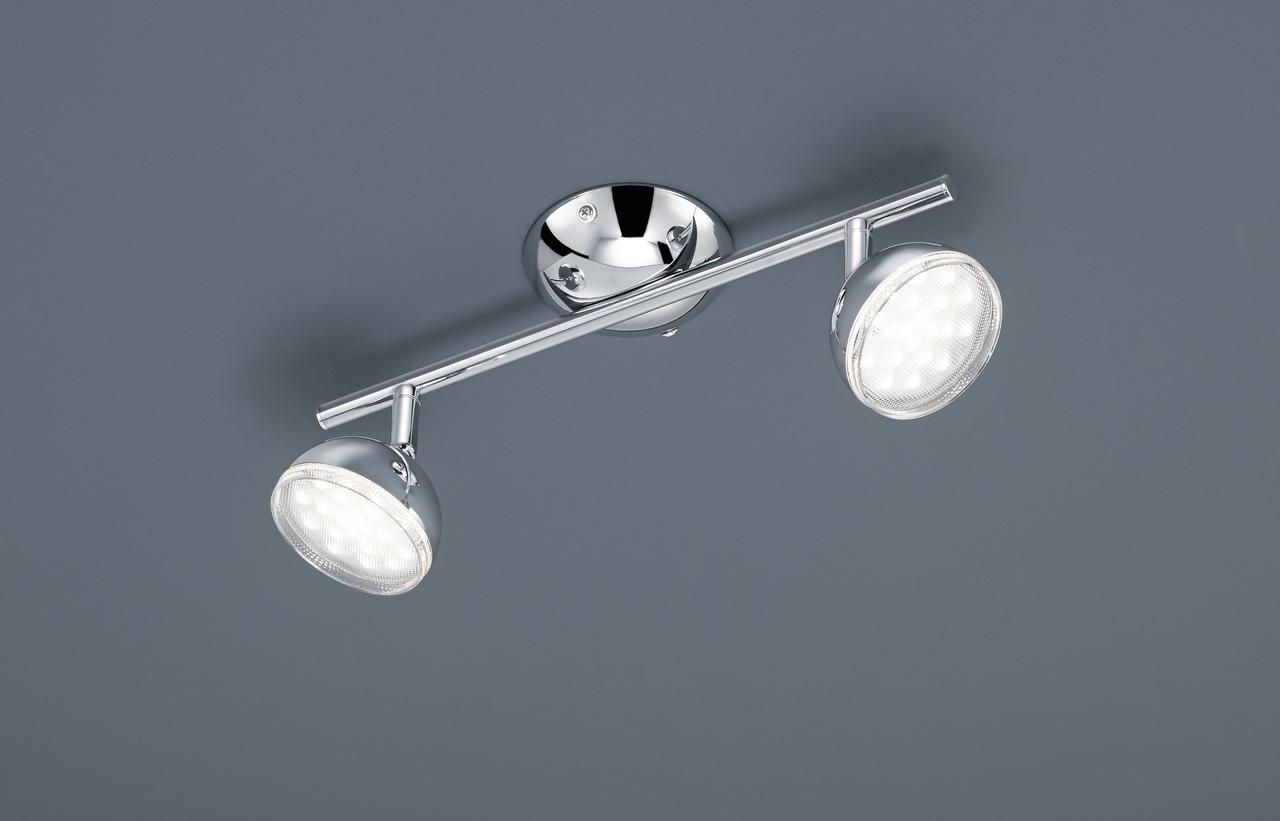 Trio LED Strahlerbalken Bolou, Chrom, Kunststoff/Metall, 872810206