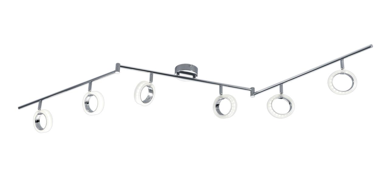 Trio LED Deckenleuchte Corland II, Chrom, Kunststoff/Metall, 874210606