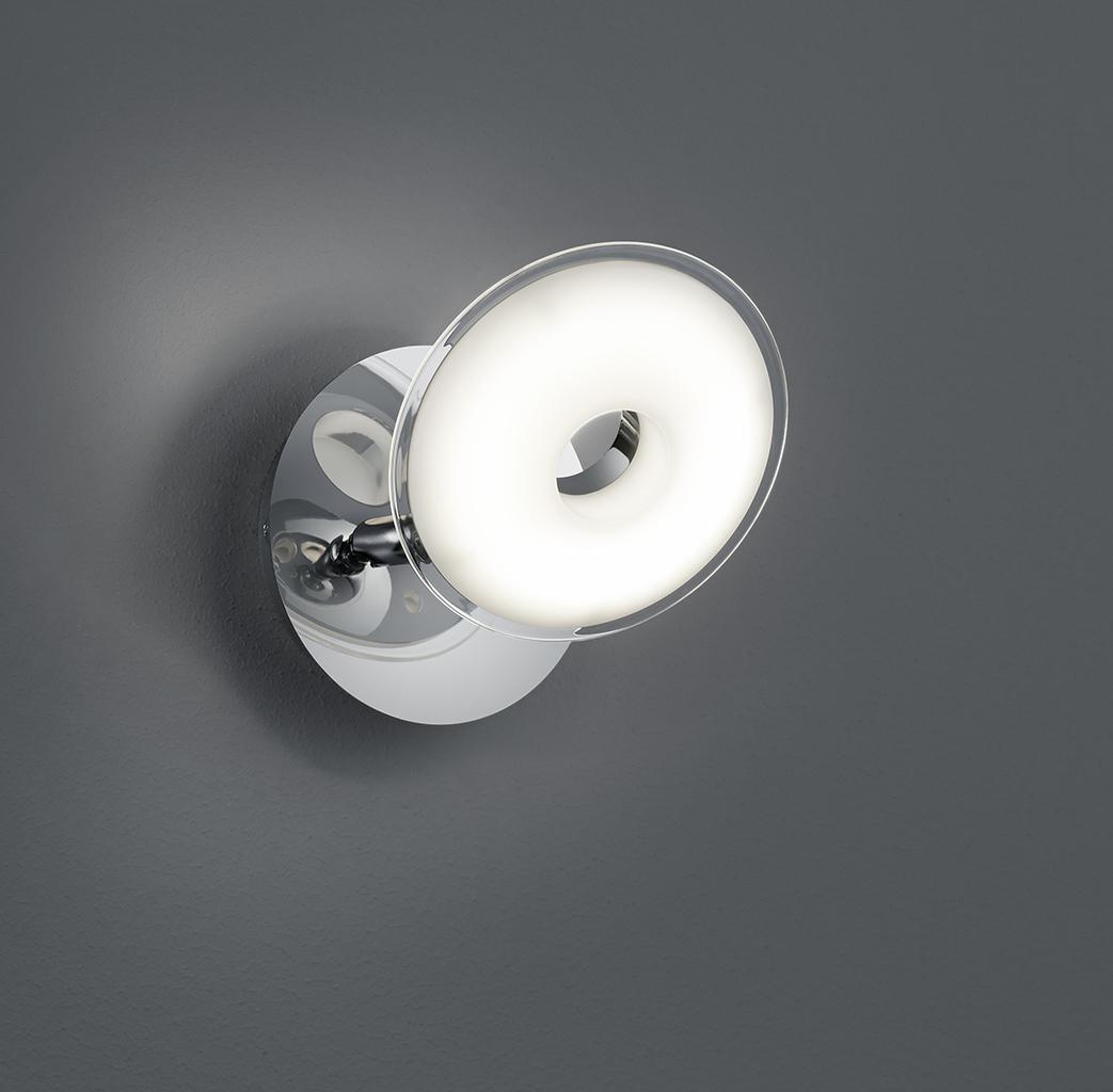 Trio Wandleuchte PILATUS, Chrom,weiß, Kunststoff/Metall, 875910106