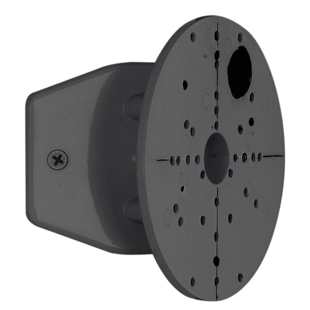 EGLO Außenleuchte Eckanbindung Für Aussenleuchten, Schwarz, Metall, 88153