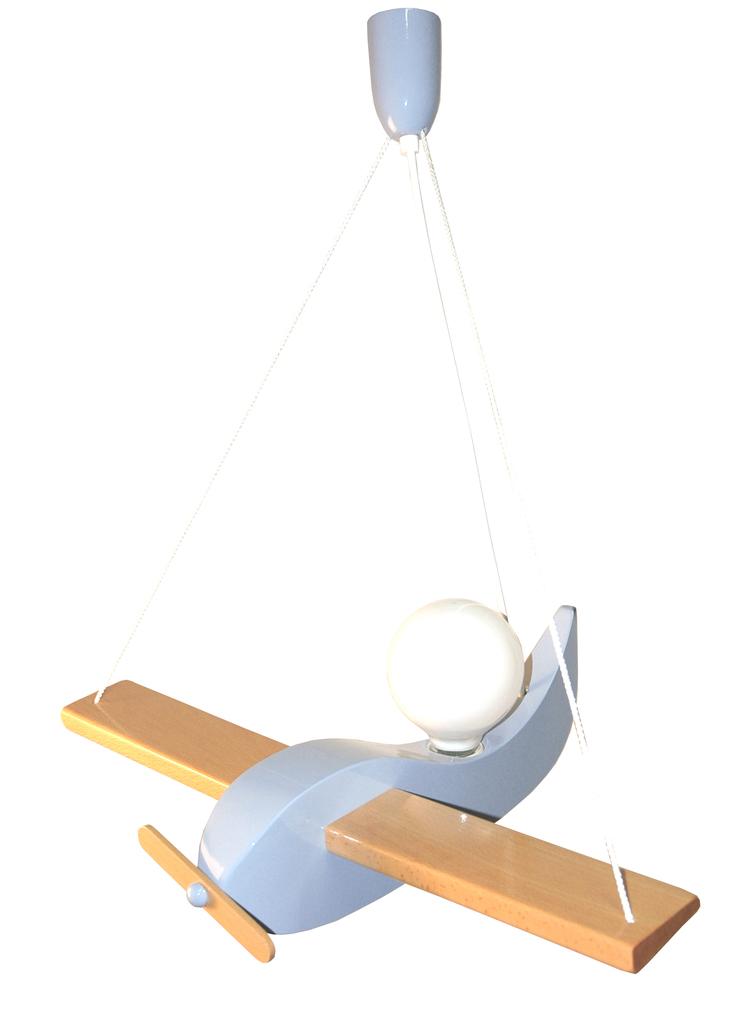 Waldi Leuchten Kinder Pendelleuchte Segelflieger Uno Hellblau, Blau, Holz, 90163.0   Lampen > Kinderzimmerlampen   Hellblau