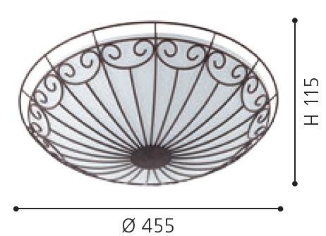 EGLO Deckenleuchte Colti, Braun,weiß, Glas/Metall, 92142