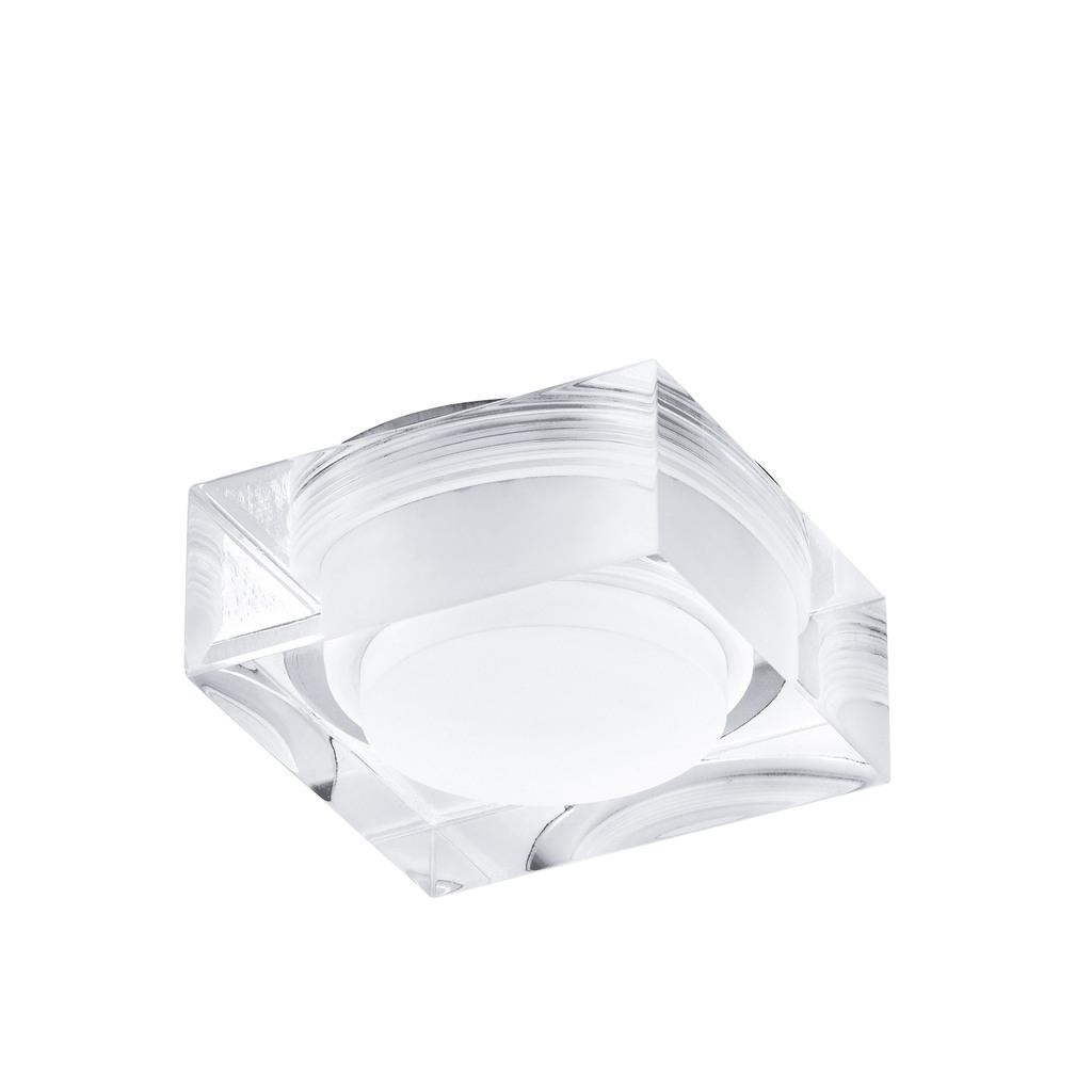 EGLO LED Deckenleuchte Tortoli, Chrom,transparent,weiß, Kunststoff/Metall, 92681