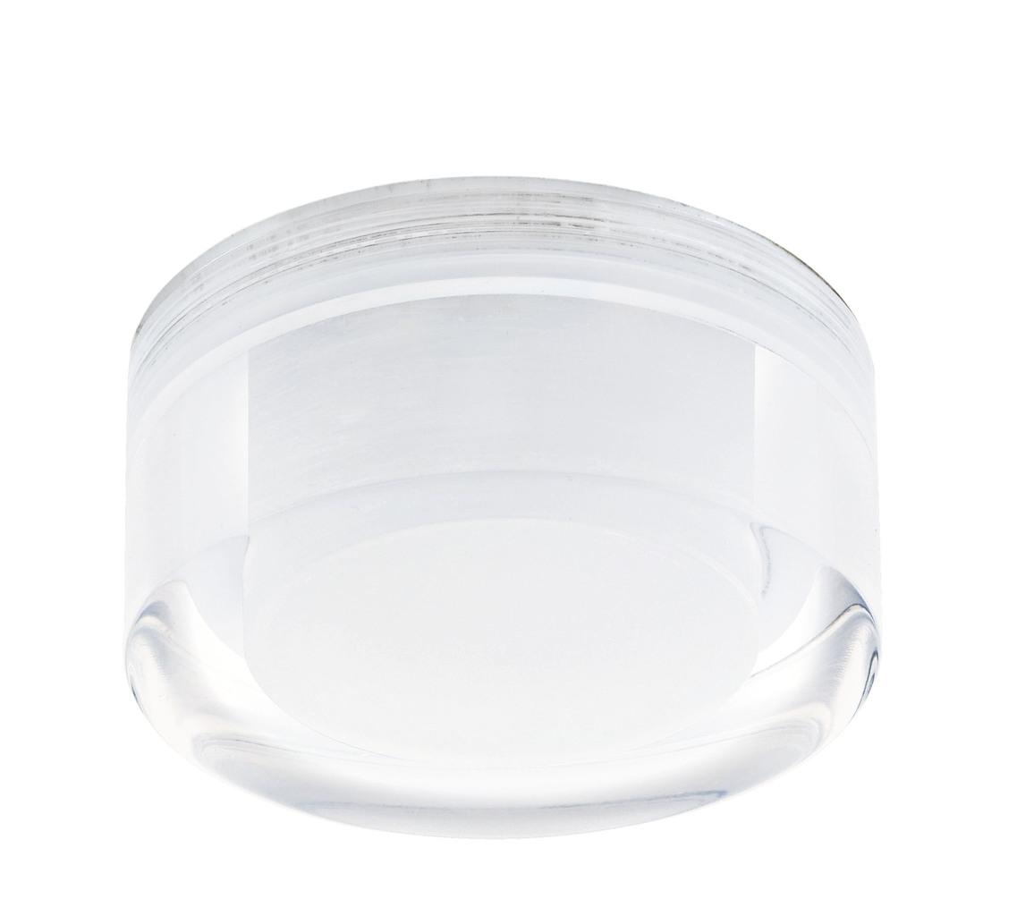 EGLO LED Deckenleuchte Tortoli, Chrom,transparent,weiß, Kunststoff/Metall, 92682