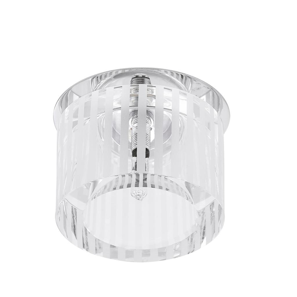EGLO Deckenleuchte Tortoli, Chrom,transparent,weiß, Glas/Metall, 92689
